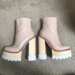 Jeffrey Campbell nude stable platform bootie! US 6